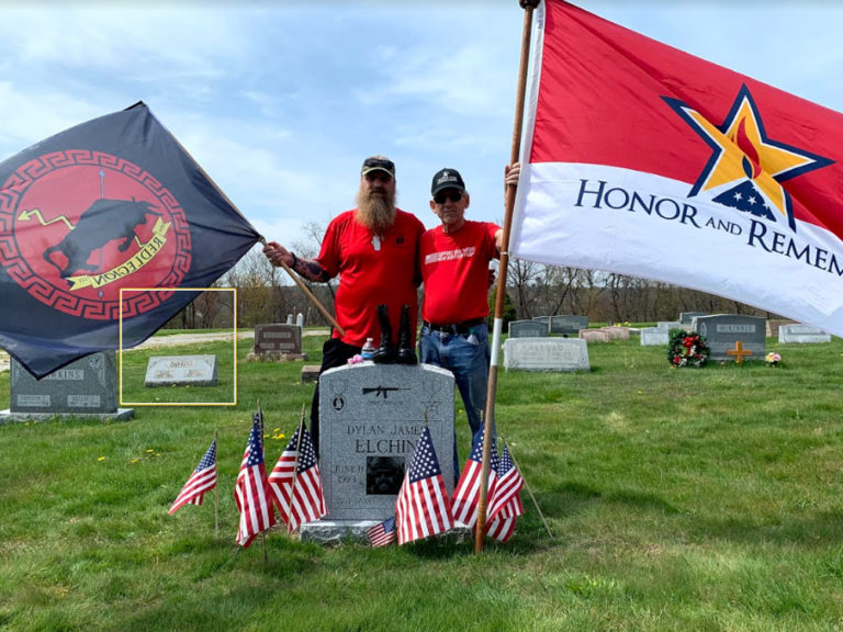 USAF SSGT Dylan Elchin's grandfather Ron Bogolea and uncle, Dwayne Bogolea