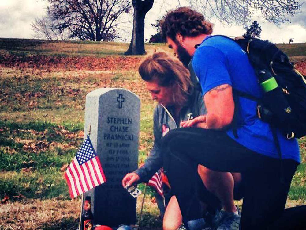2014 Legacy Challenge: Mikes' Hiking for Heroes - Mike with Gold Star mom