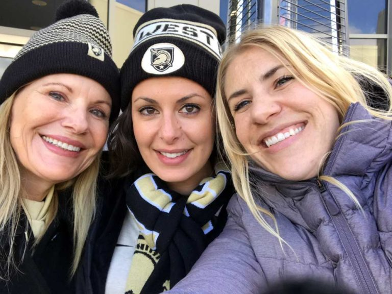 Carol, Laura, and Andrea at the Army Navy Game
