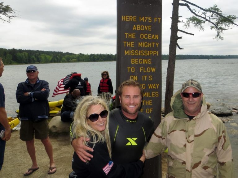 Kicking off the Swim for the Sacrifice Legacy Challenge