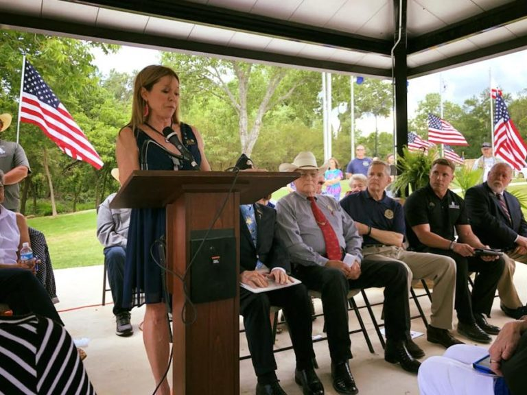 Dedication of Veteran's Memorial at Soldier Springs Park