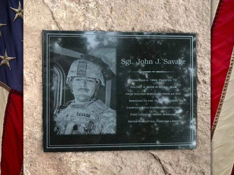 SGT John Savage, U.S. Army, KIA