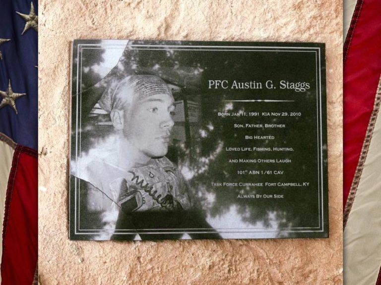 PFC Austin Staggs, U.S. Army, KIA