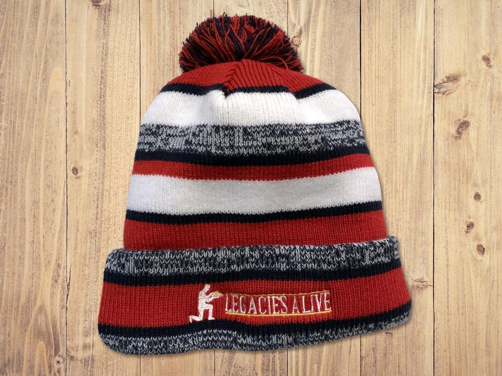 Legacies Alive - Patriotic Tassel Cap with Polar Fleece Lining
