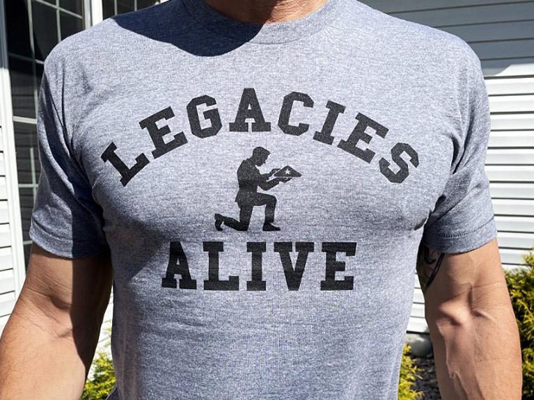 Legacies Alive Gray Athletic T-Shirt