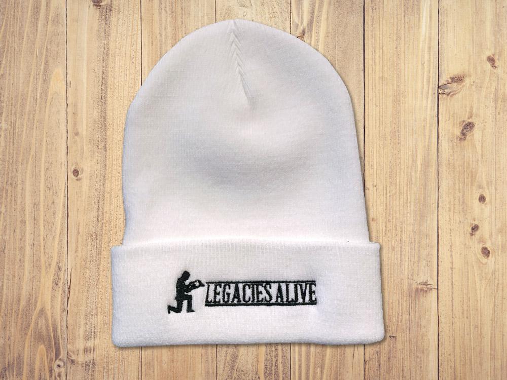 Legacies Alive - White Beanie Cap