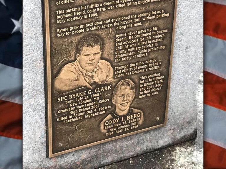 Ryane Clark Memorial Parking Lot Dedication
