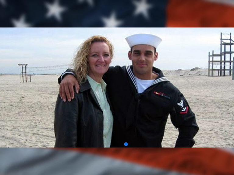 Navy SEAL Marc Allen Lee with his mother, Debbie